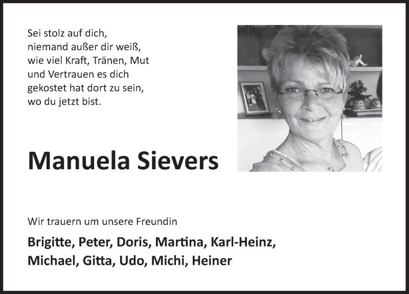Traueranzeige für Manuela Sievers vom 02.05.2020 aus Deister- und Weserzeitung