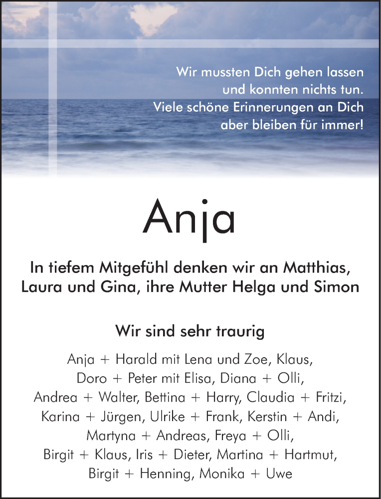Traueranzeige für Anja Herbst vom 10.04.2021 aus Neue Deister-Zeitung